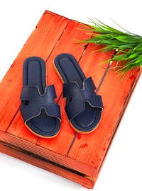 Navy Blue - Sandal - Slippers