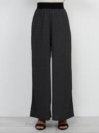 Black - Geometric - Culottes