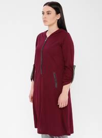 Cherry - Viscose - Plus Size Tunic