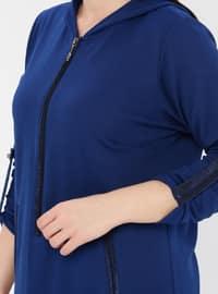 Saxe - Viscose - Plus Size Tunic