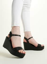Black - High Heel - Sandal - Sandal