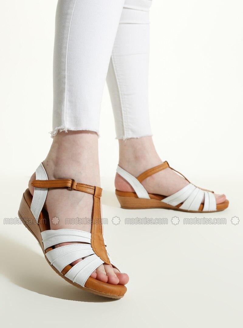 White - Tan - Sandal - Sandal