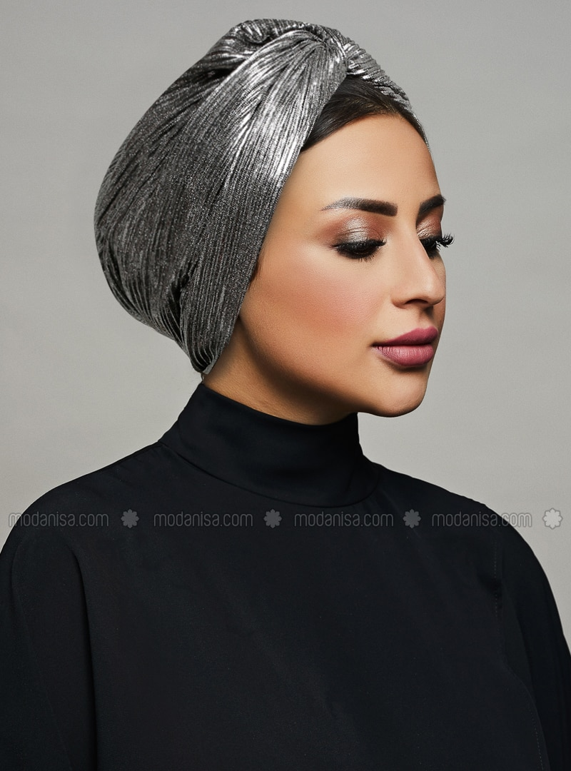Silver tone - Black - Plain - Gilded - Instant Scarf