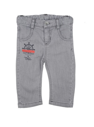 Cotton - Gray - Baby Pants