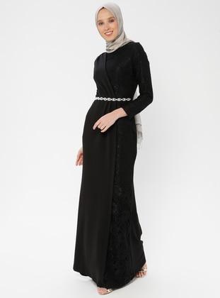 bef91d5eb4dd3 Siyah Tesettür Abiye Modelleri ve Fiyatları - Modanisa.com