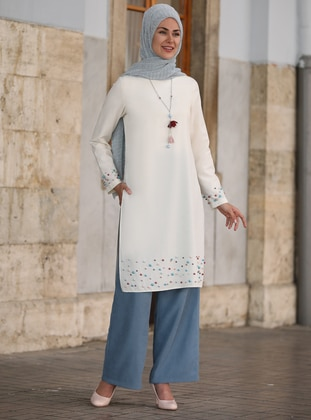 Ecru - Unlined - Tunic