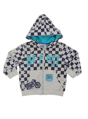 Multi - Cotton - Navy Blue - Boys` Sweatshirt