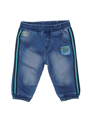 Cotton - Denim - Blue - Boys` Pants