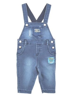 Cotton - Denim - Blue - Overall