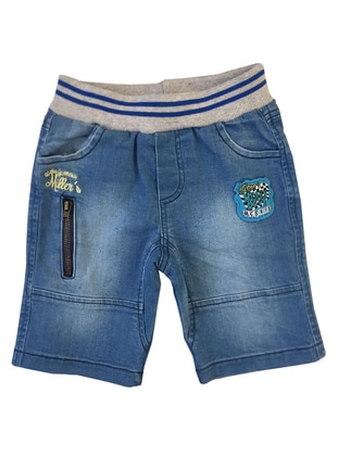 Cotton - Denim - Blue - Boys` Shorts - Mininio