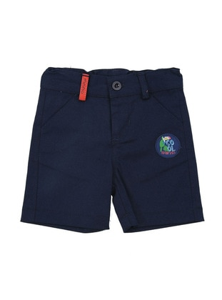 Cotton - Navy Blue - Boys` Shorts
