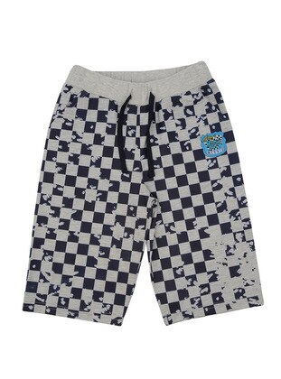 Multi - Cotton - Navy Blue - Boys` Shorts