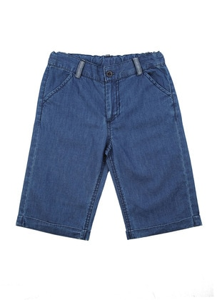 Cotton - Blue - Boys` Shorts