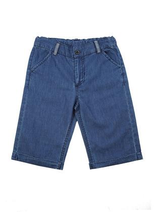 Cotton - Denim - Blue - Boys` Shorts