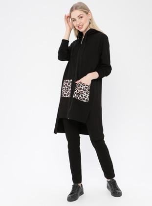 Black - Leopard - Tracksuit Set