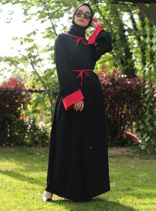 Red - Black - Abaya