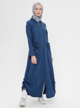 Indigo - Unlined - Cotton - Topcoat