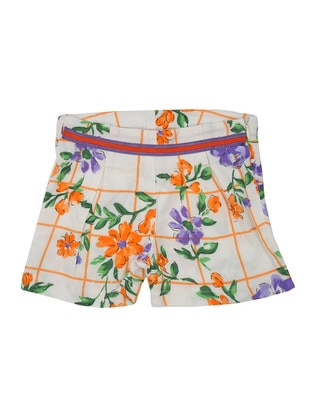 Multi - Viscose - Multi - Girls` Shorts