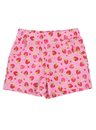 Multi - Cotton - Pink - Girls` Shorts - Zeyland