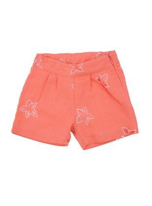 Multi - Cotton - Orange - Girls` Shorts
