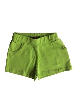 Cotton - Green - Girls` Shorts