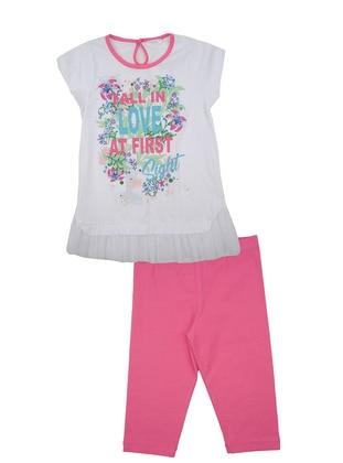 Multi - Cotton - Pink - Girls` Suit