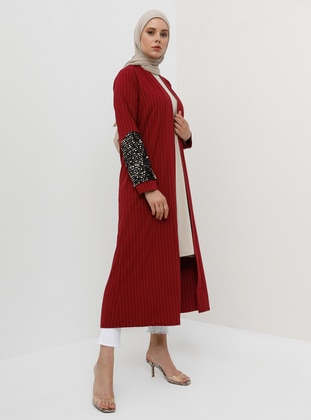 Plum - Cherry - Stripe - Unlined - Topcoat