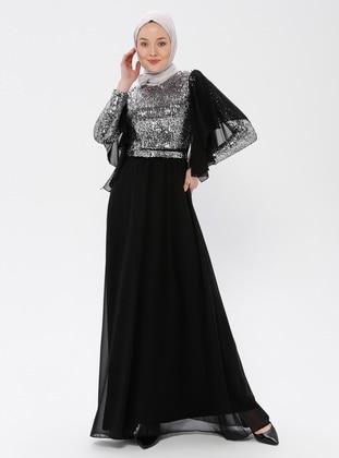 9b2ded0b3e7b4 Siyah Tesettür Abiye Modelleri ve Fiyatları - Modanisa.com