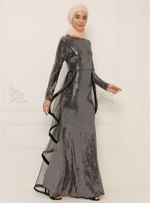 Rose - Fully Lined - Crew neck - Muslim Evening Dress