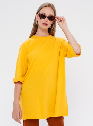 Yellow - T-Shirt - Kaktüs