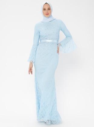 1abdd84893bef Mavi Tesettür Abiye Modelleri ve Fiyatları - Modanisa.com