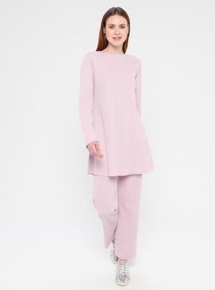 Cotton - Lilac - Loungewear Suits - Meliana