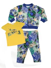 Multi - Cotton - Yellow - Girls` Suit