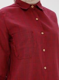 Maroon - Point Collar - Tunic