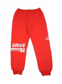 Cotton - Red - Boys` Tracksuit
