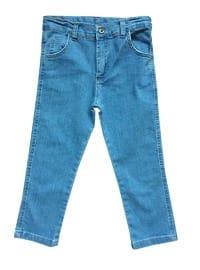 Cotton - Denim - Blue - Boys` Pants