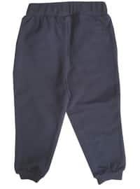 Cotton - Navy Blue - Boys` Pants
