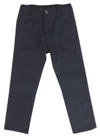 Cotton - Blue - Boys` Pants
