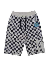 Multi - Cotton - Navy Blue - Boys` Shorts