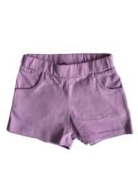 Cotton - Unlined - Lilac - Girls` Shorts
