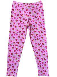 Multi - Cotton - Unlined - Pink - Girls` Leggings
