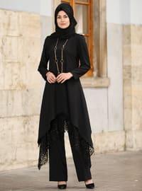 Siyah - Astarlı kumaş - Takım