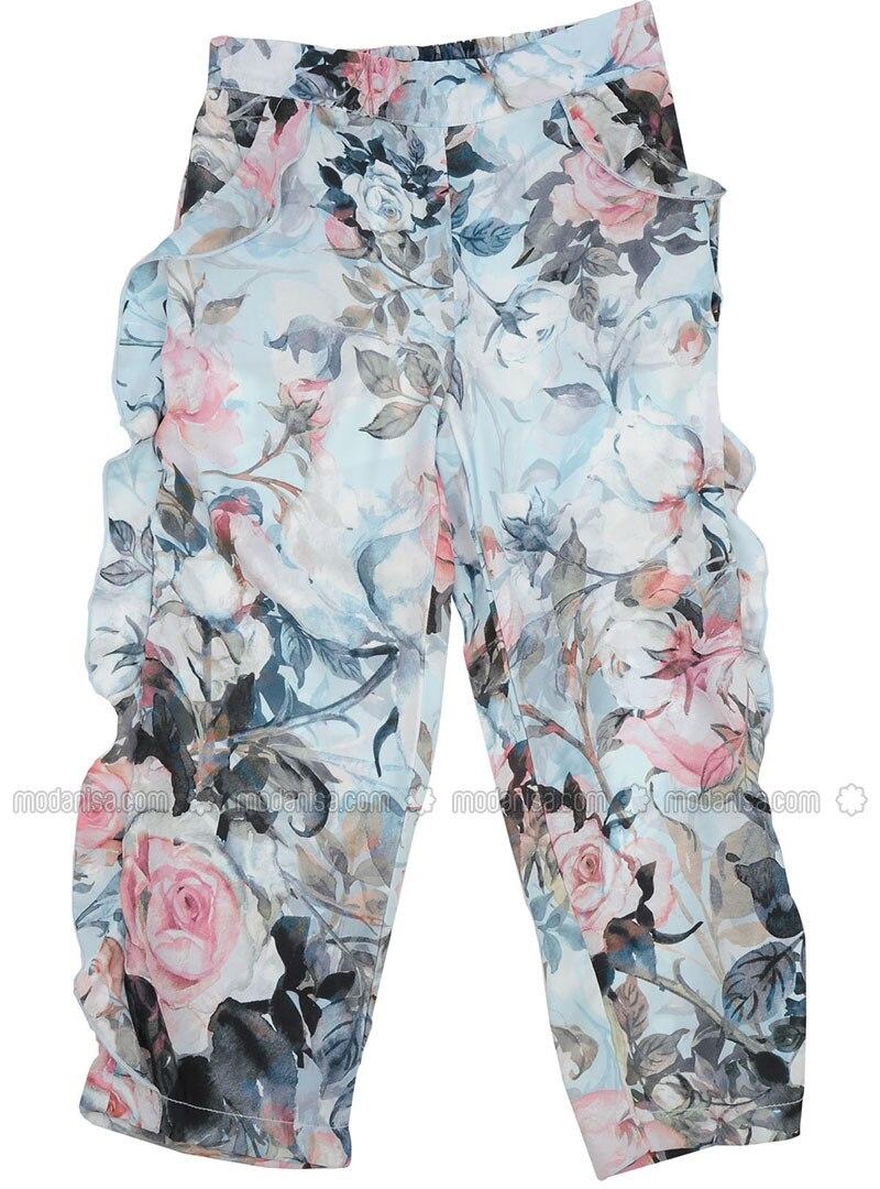 Multi - Blue - Girls` Pants