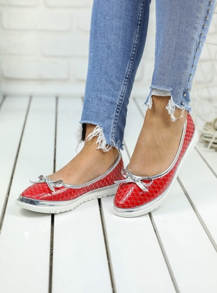 Flat - Red - Flat - Flat Shoes