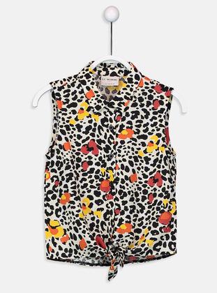 Printed - Beige - Girls` Shirt