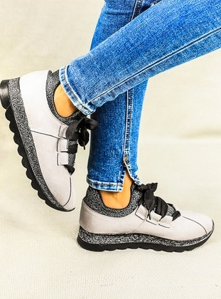 White - Gray - Sport - Sports Shoes