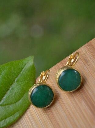 Green - Gold - Earring