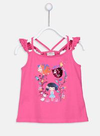 Fuchsia - Girls` T-Shirt