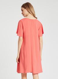 Orange - Maternity Dress