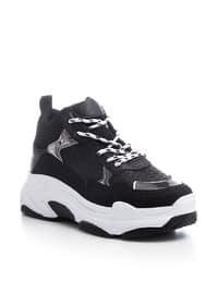 Black - White - Sport - Sports Shoes